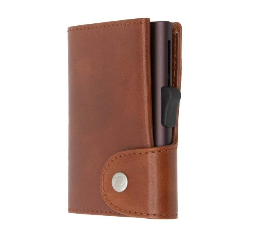 C-secure XL Coin Wallet Vegetable Tanned macchiato