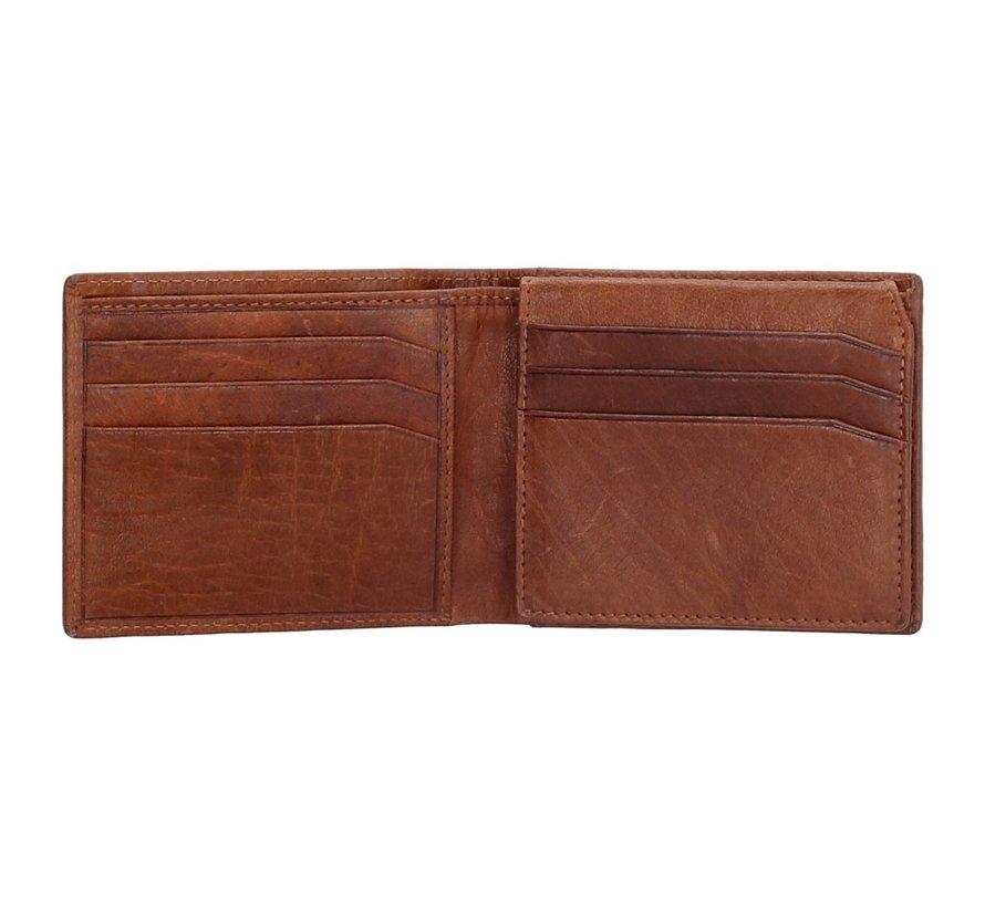 Old West San Antonio compacte portemonnee bruin