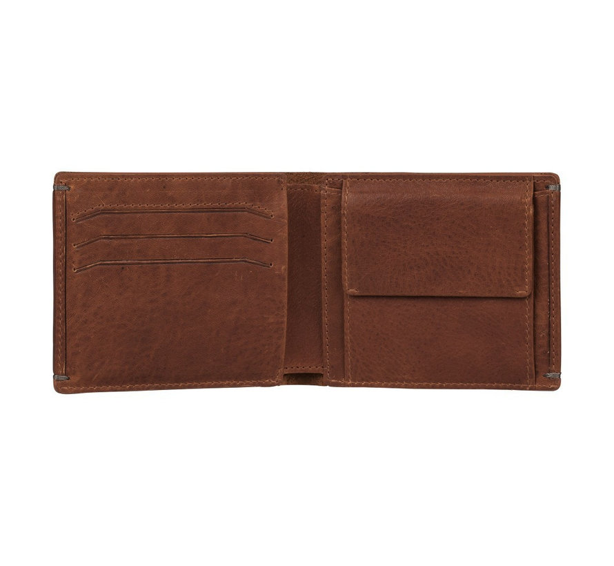 Burkely Antique Avery billfold low coin cognac