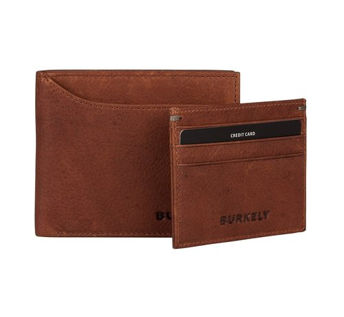 Burkely Burkely Antique Avery billfold low cc coin cognac