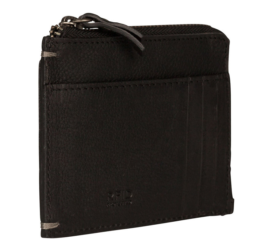 Burkely Antique Avery cc wallet zwart