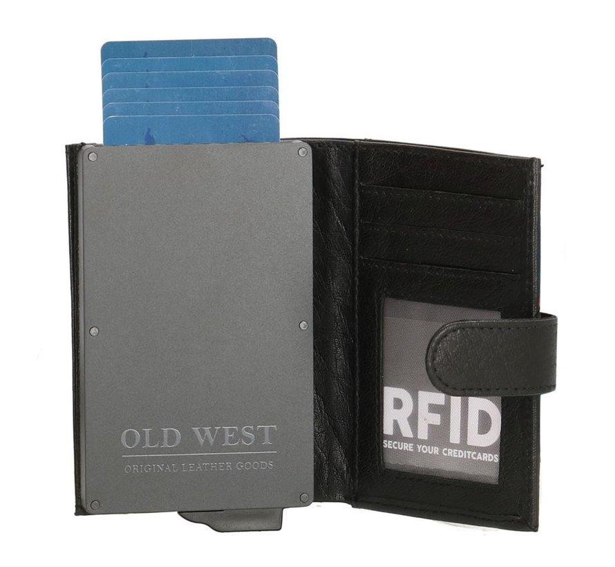 Old West creditcardhouder 202 zwart
