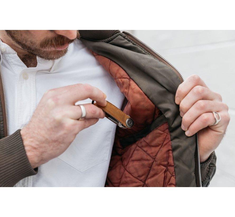 Orbitkey Crazy Horse Leather 2.0 chestnut brown