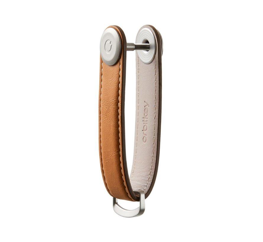 Orbitkey Premium Leather 2.0 tan white