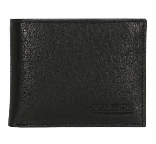 Old West Old West San Antonio compacte portemonnee zwart