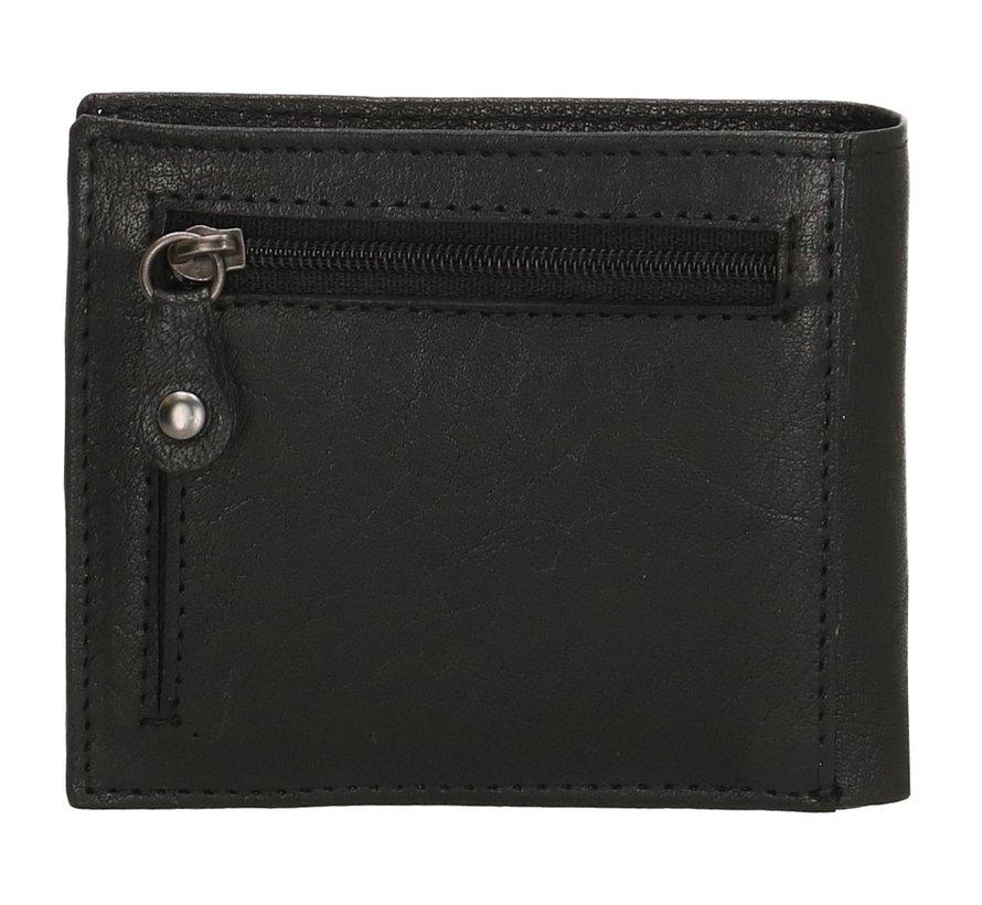 Old West San Antonio compacte portemonnee zwart