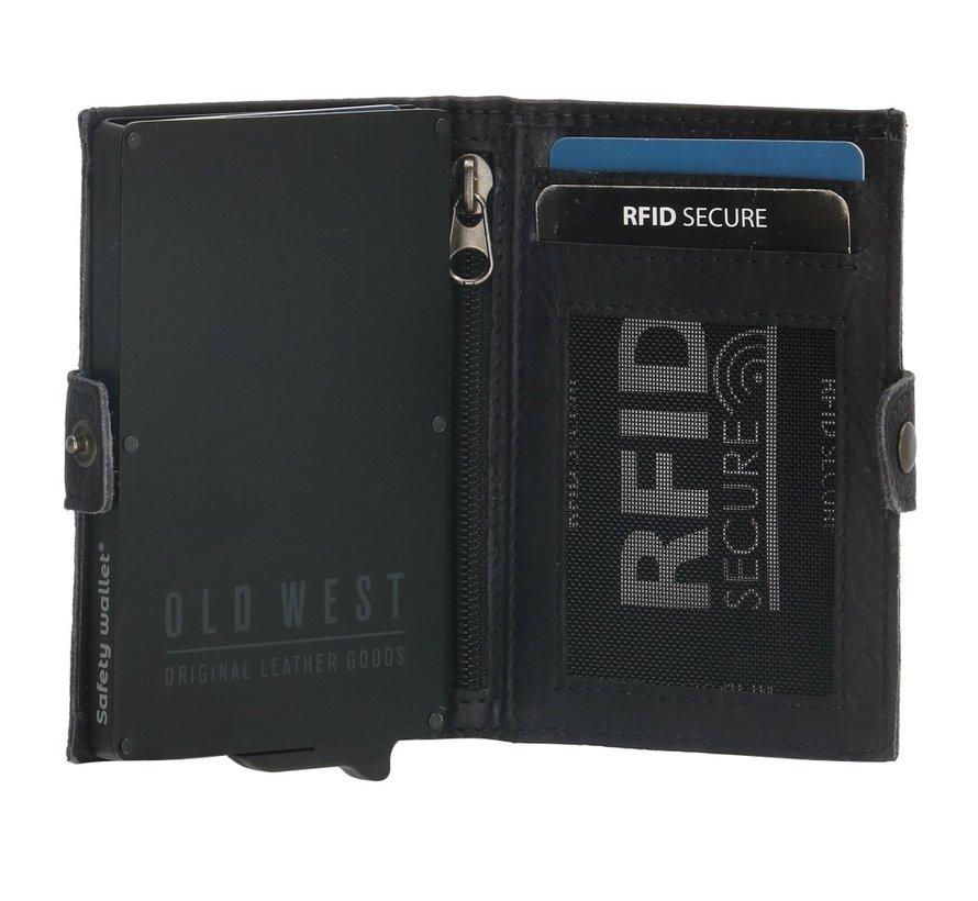 Old West Round Rock safety wallet zwart