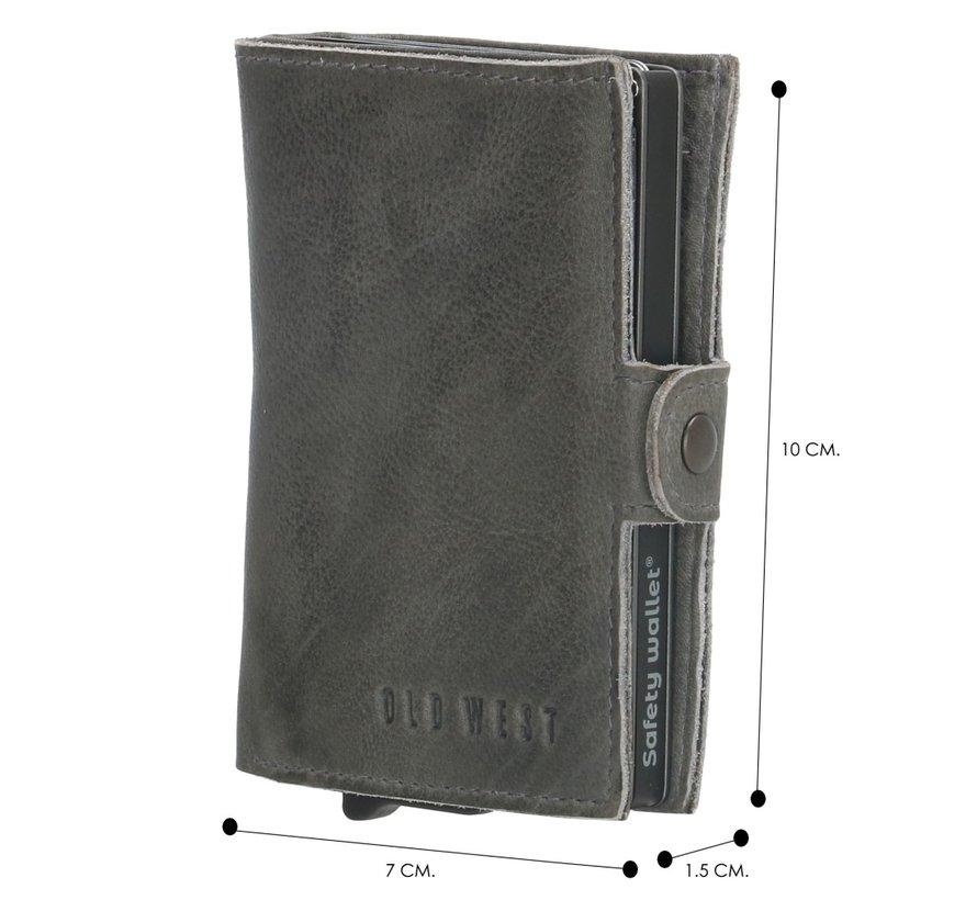 Old West Round Rock safety wallet grijs