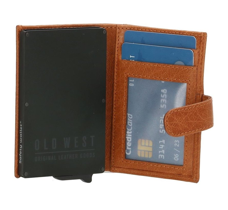 Old West creditcardhouder 209 cognac