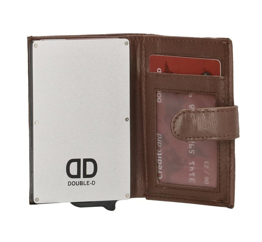 Double-D creditcardhouder 208 bruin