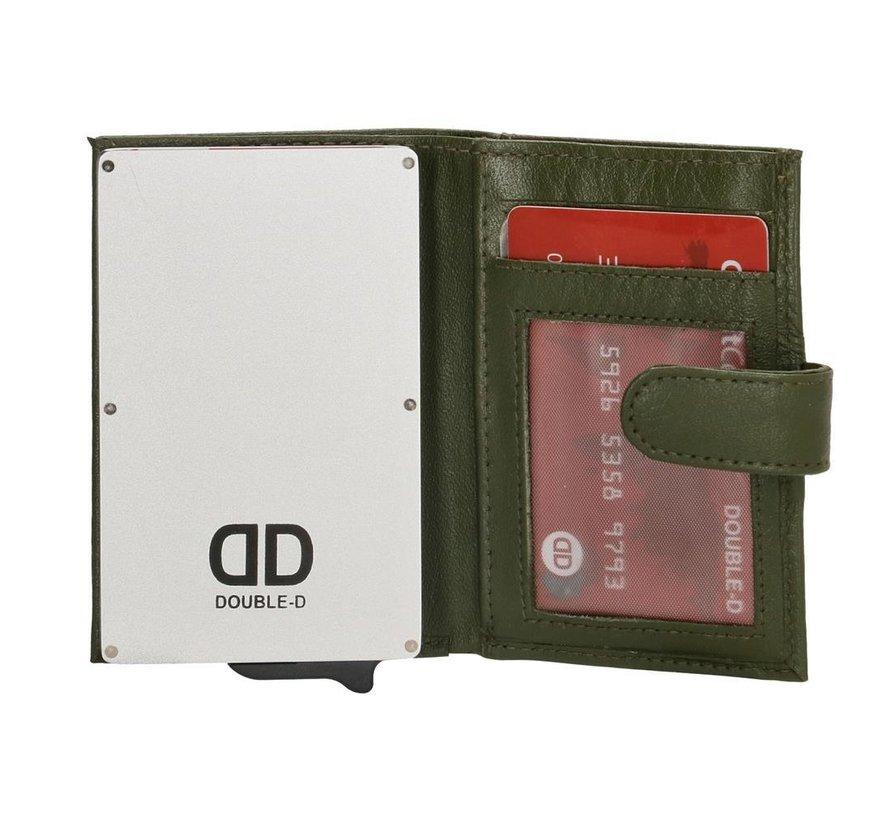 Double-D creditcardhouder 208 olijfgroen