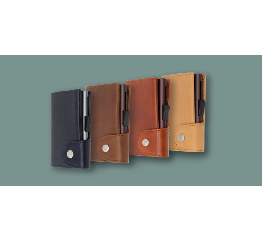 C-secure XL Coin Wallet Vegetable Tanned donkerblauw-montana