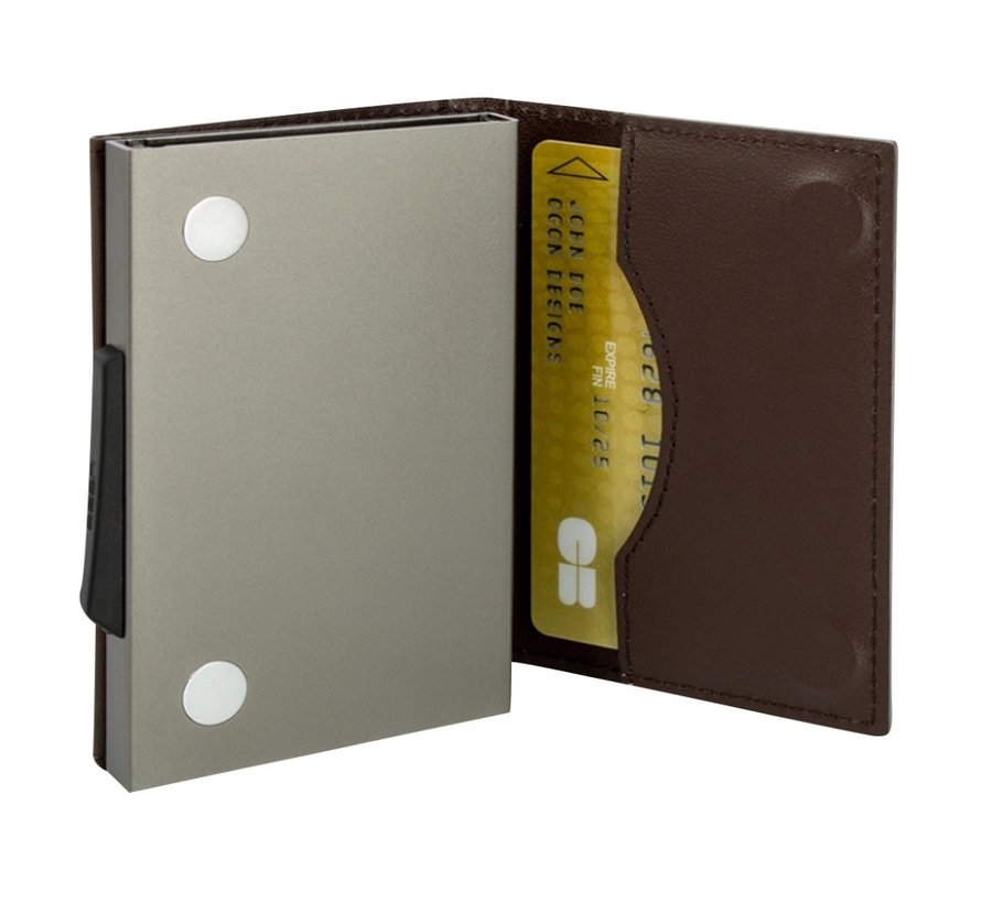 Ögon Cascade Wallet titanium brown