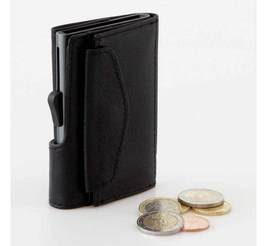 C-secure Coin Wallet Black Nero