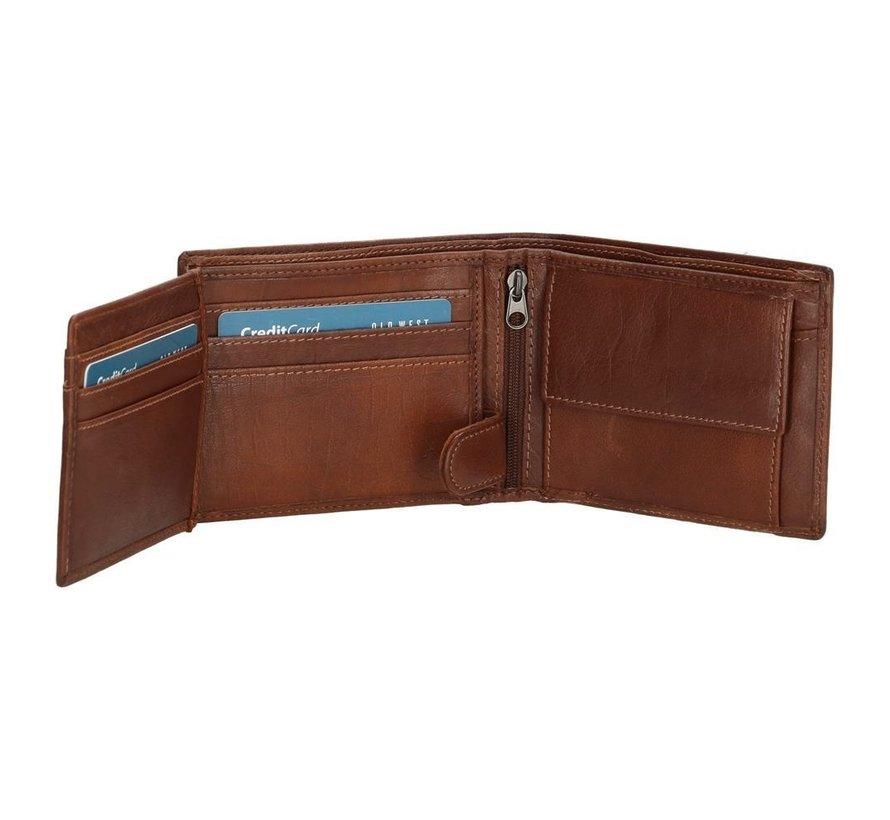 Hide & Stitches San Antonio portemonnee bruin