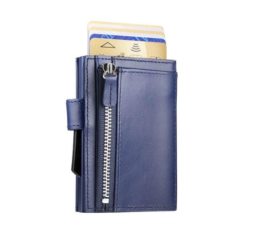 Ögon Cascade Zipper Snap navy blue