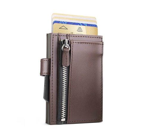 Ogon Designs Ögon Cascade Zipper Snap dark brown