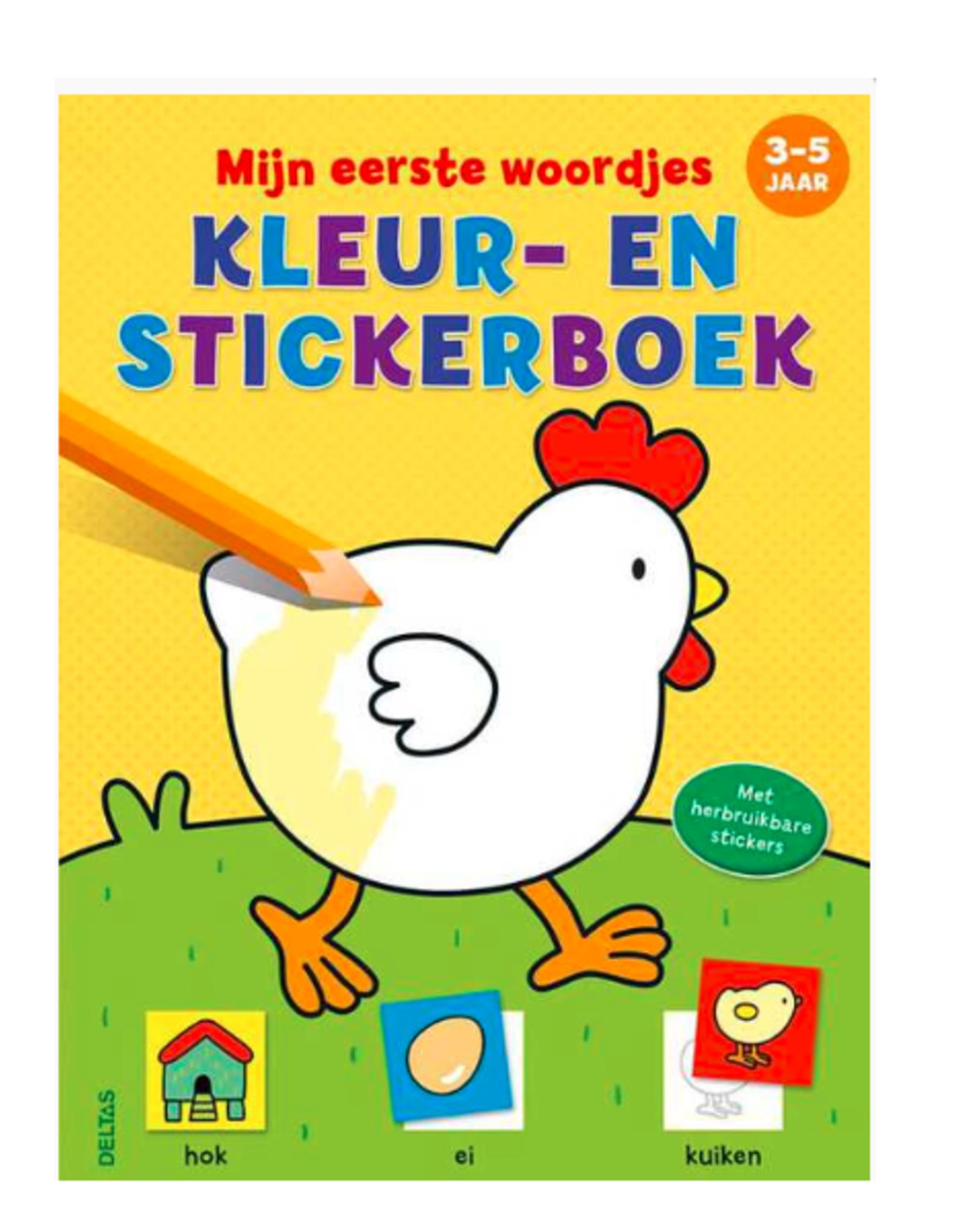 Deltas Mijn eerste woordjes , Kleur-en stickerboek 3-5 jaar