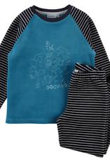 Noukie's Pyjama 2 delig  velours petrol Z982141