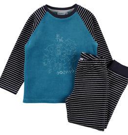 Noukie's Noukie's Pyjama 2 delig  velours petrol Z982141