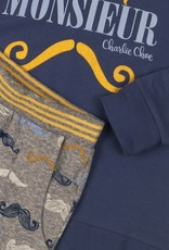 Charlie Choe Pyjama Monsieur indigo blue