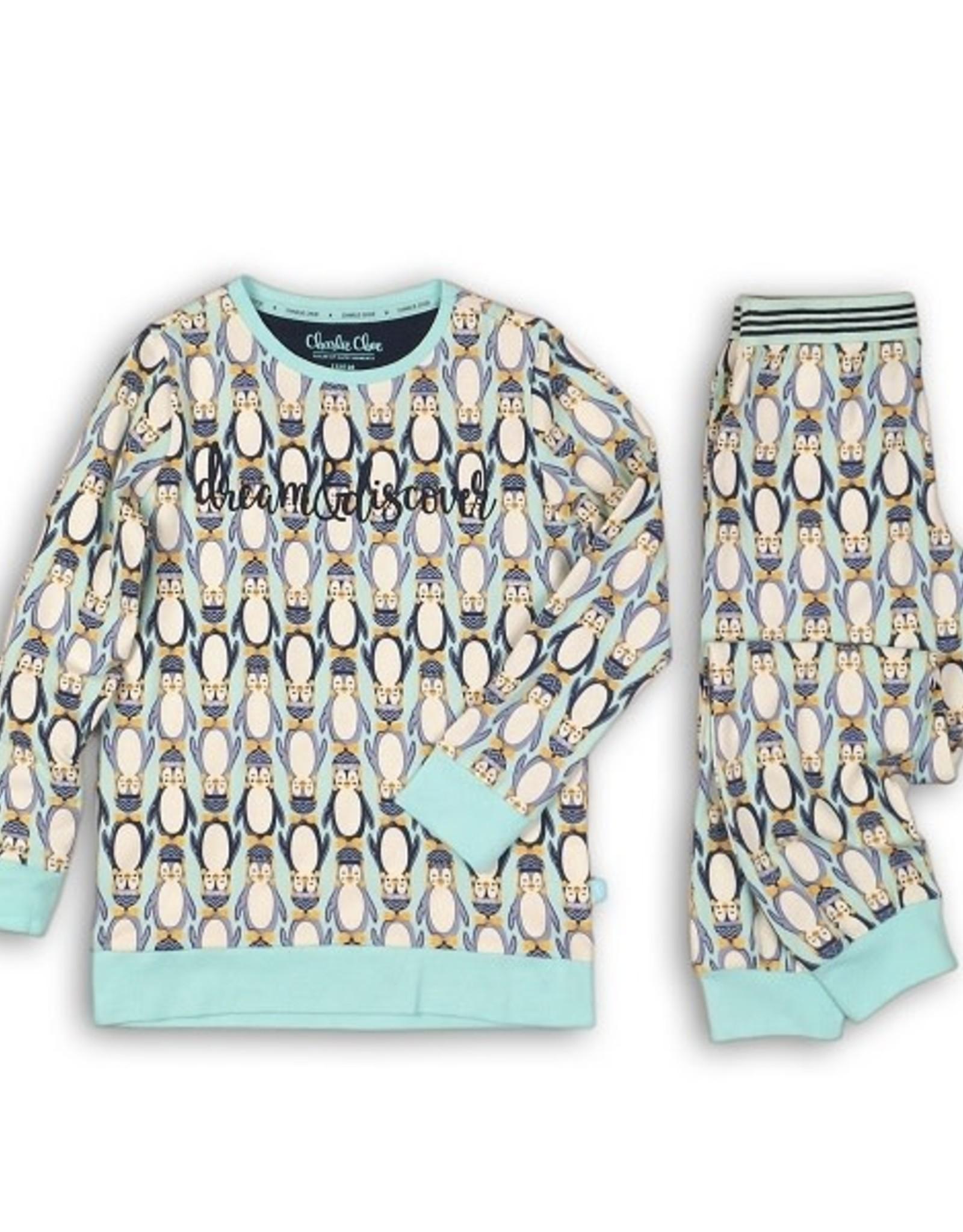 Charlie Choe Pyjama pinquin soft blue - 86/92