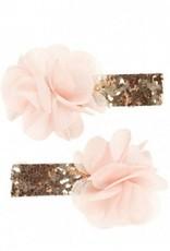Souza Haarclips 2 stuks Noralie zalmroos bloem
