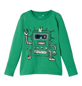 Name It Name it J-Tshirt groen robotprint NMMBOBOTTI
