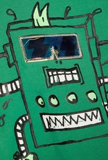 Name It T-shirt groen robotprint NMMBOBOTTI