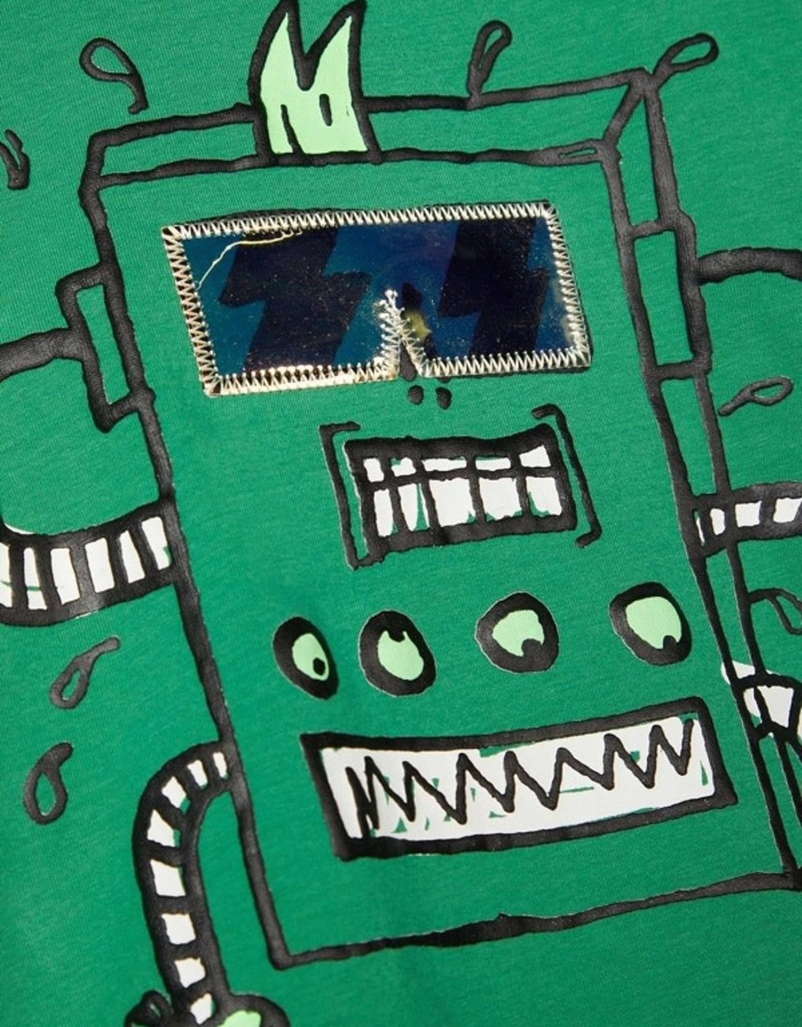 Name It J-Tshirt groen robotprint NMMBOBOTTI