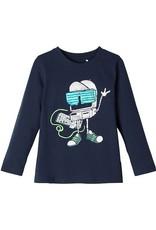 Name It J-Tshirt navy robotprint NMMBOBOTTI