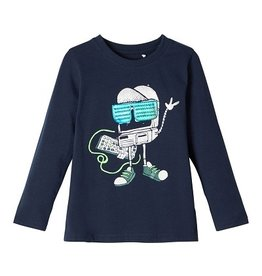 Name It Name it J-Tshirt navy robotprint NMMBOBOTTI
