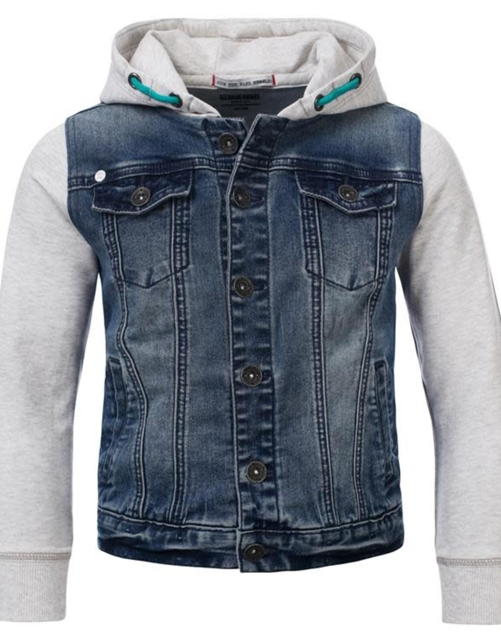 Blue Rebel Jeansvest met kap 0131000