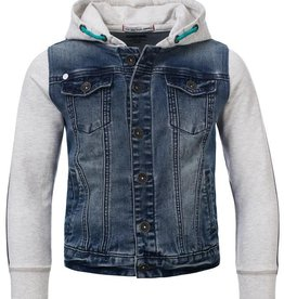 Blue Rebel Jeansvest met kap