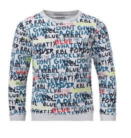 Blue Rebel Sweater grijs tekst