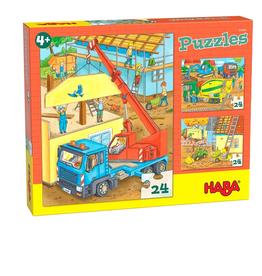 Haba 3 Puzzels op de bouwplaats
