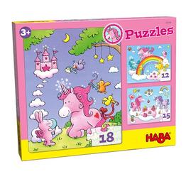 Haba 3 Puzzels Eenhoorn