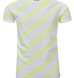 Blue Rebel Blue rebel J-t-shirt wit fluogeel  0136010