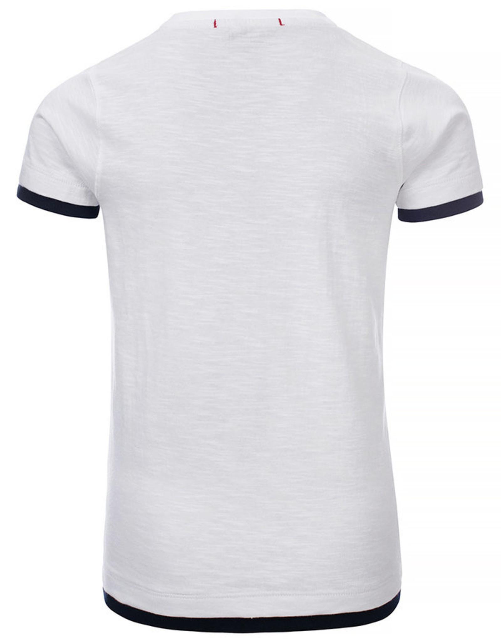 Blue Rebel Jongens  t-shirt wit met print   0136002