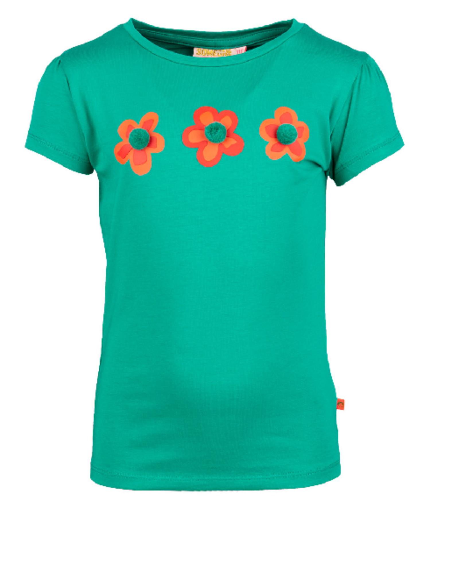 Someone T-shirt groen 3 bloem SG02.201.18621