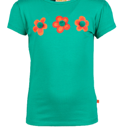 Someone Someone T-shirt groen 3 bloem SG02.201.18621