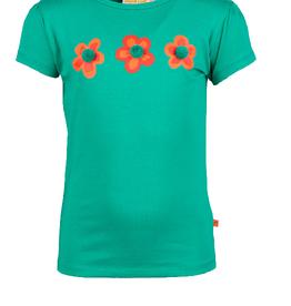 Someone T-shirt groen 3 bloem