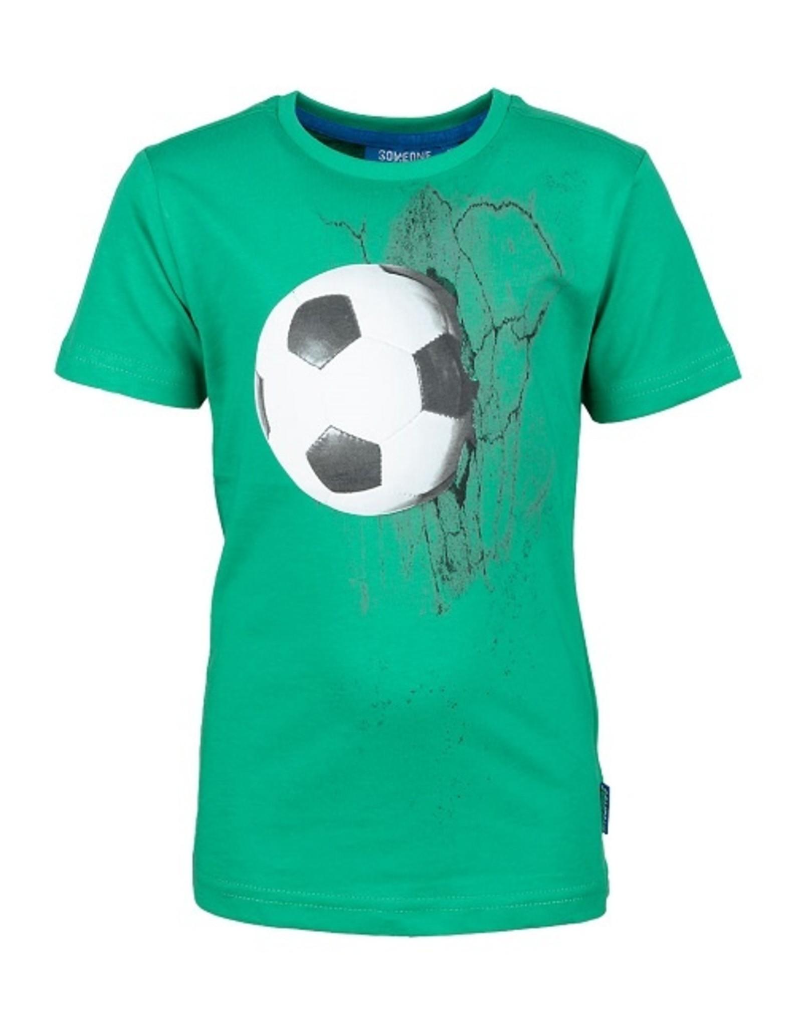 Someone Jongens T-shirt KM Voetbal groen SB02.201.18747