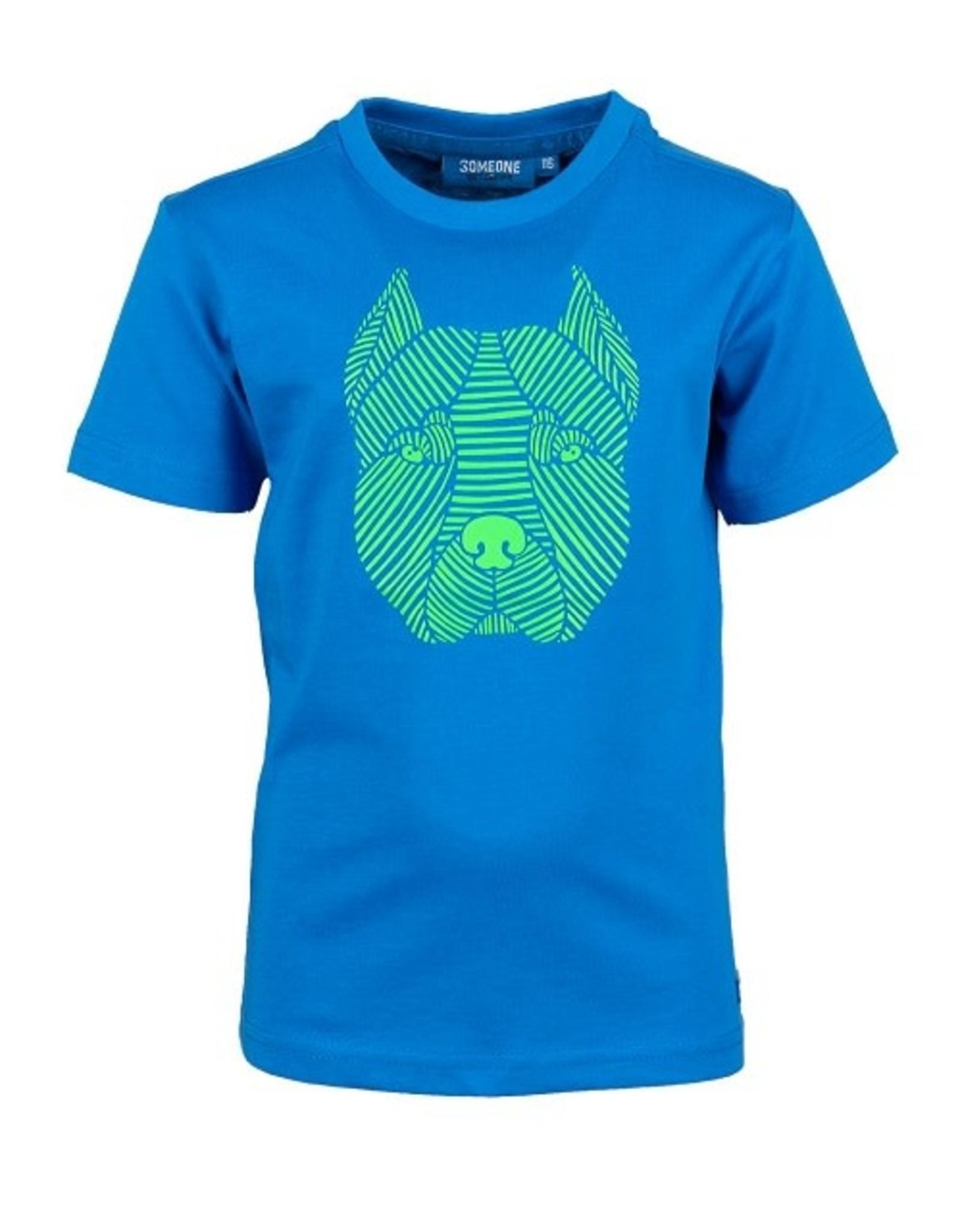 Someone Jongens Tshirt blue hond - maat 98