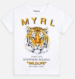 Mayoral T-shirt wit tijger 3052