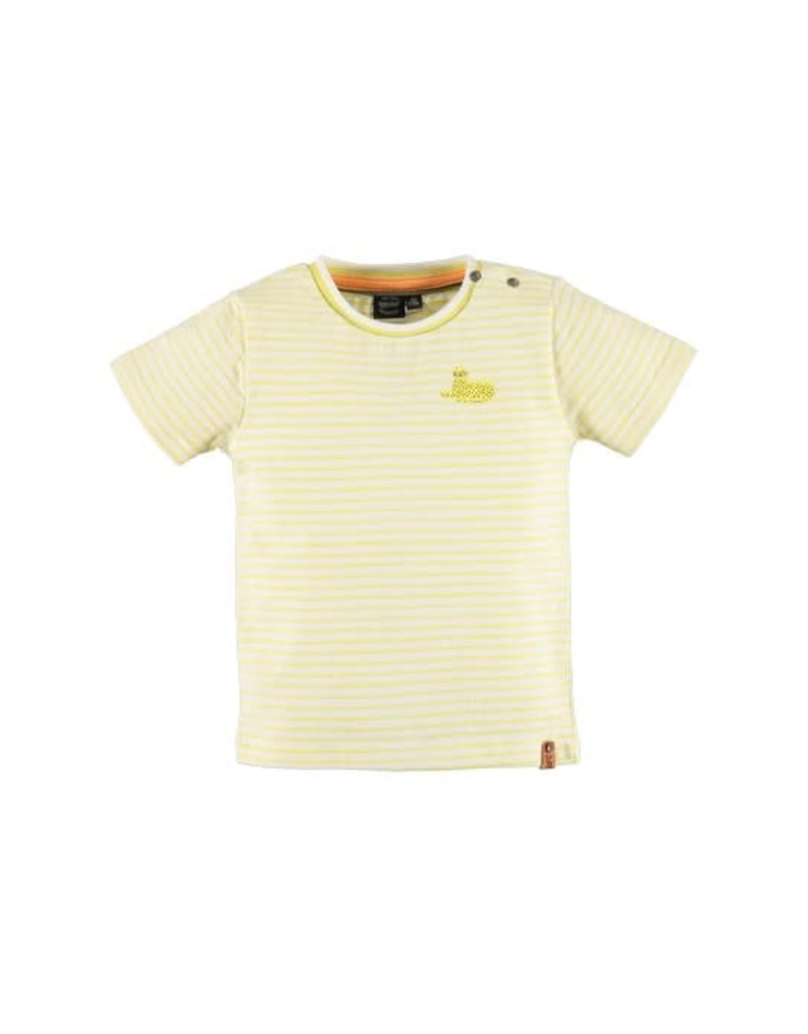 Babyface Jongens-T-shirt  KM met streep citroengeel