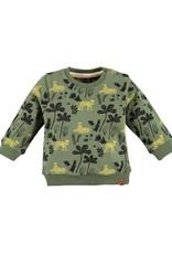 Babyface Jongens sweater kaki alloverprint 'jungle'