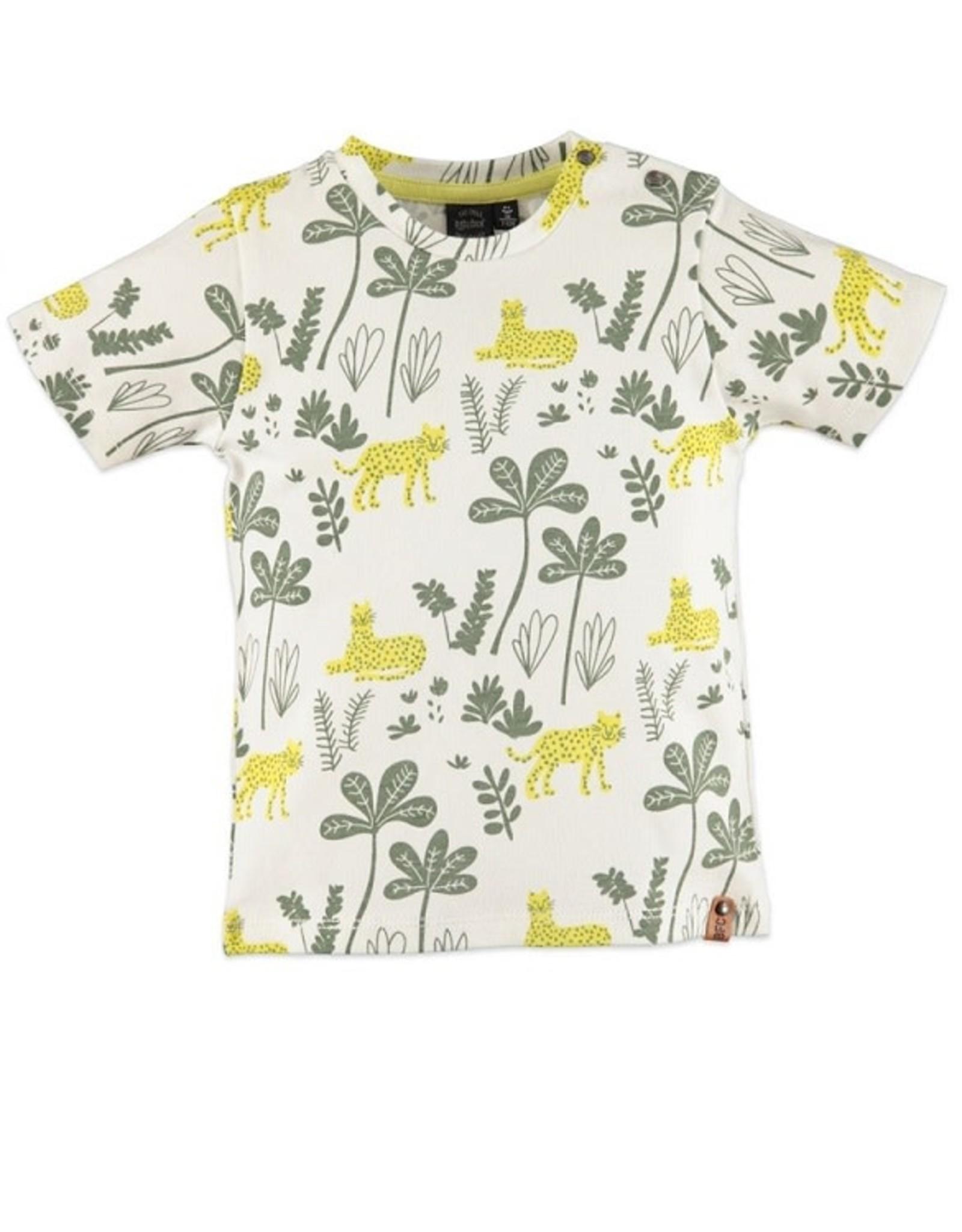 Babyface Jongens T-shirt kort mouw ecru jungle