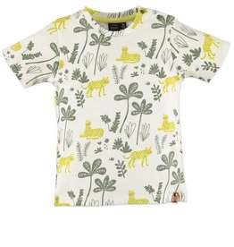 Babyface Jongens T-shirt KM ecru jungle