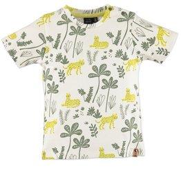 Babyface Jongens T-shirt KM ecru jungle